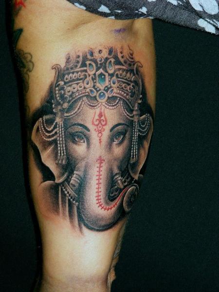 Arm Religious Ganesh Tattoo by Da Silva Tattoo