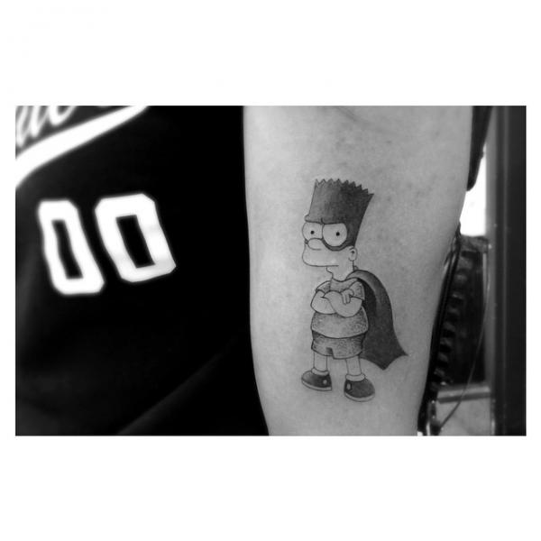 Arm Fantasy Simpson Tattoo by Dr Woo