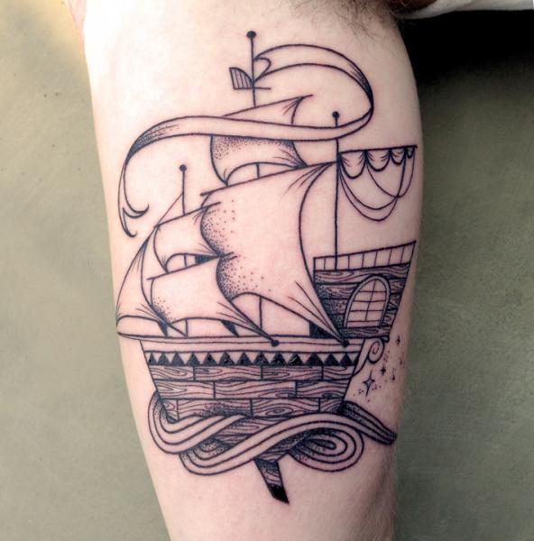 Arm Schiff Schiff Tattoo von Supakitch