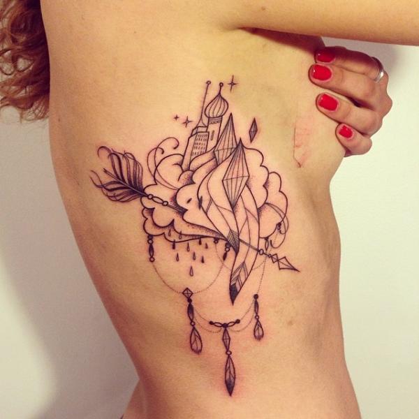 Seite Abstrakt Tattoo von Supakitch