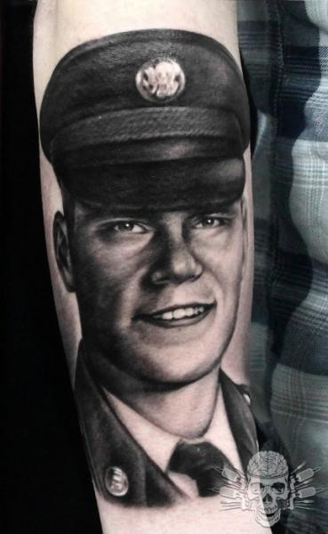 Arm Portrait Realistic Tattoo by Tattooed Theory