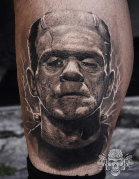 Fantasy Calf Frankenstein Tattoo by Tattooed Theory