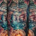 Schulter Fantasie Buddha tattoo von Tattooed Theory