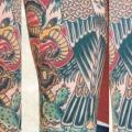 Shoulder New School Eagle tattoo by Lone Star Tattoo