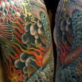 Плечо Грудь Япония Карп Кои татуировка от Lone Star Tattoo
