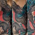 Side Japanese Dragon tattoo by Lone Star Tattoo