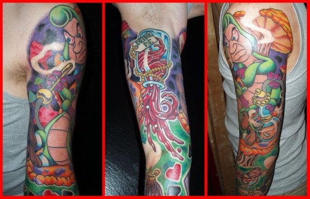 Fantasie Sleeve Tattoo von Lone Star Tattoo