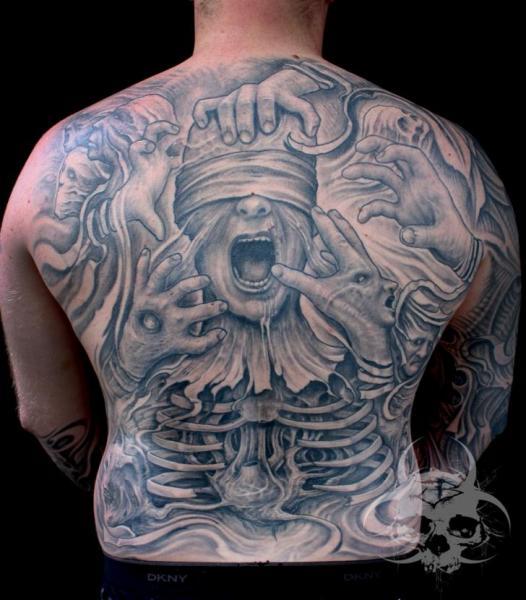 Fantasy Back Blind Tattoo by Jeremiah Barba