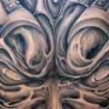 Fantasie Rücken tattoo von Jeremiah Barba