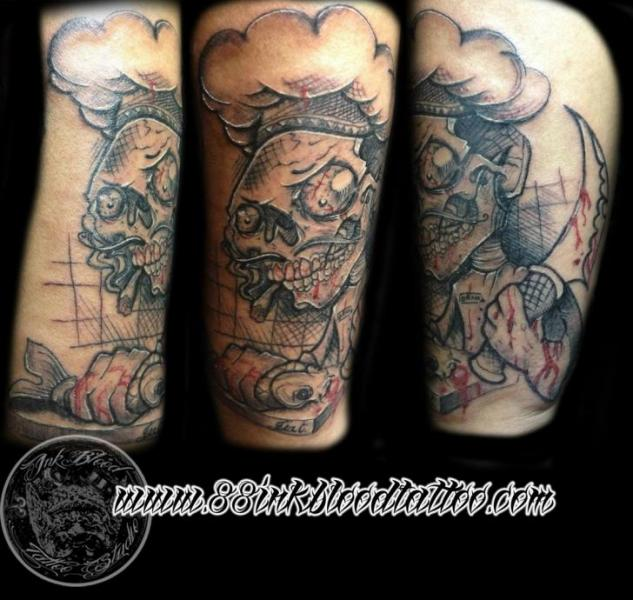 Arm Fantasie Charakter Tattoo von 88Ink-Blood Tattoo Studio