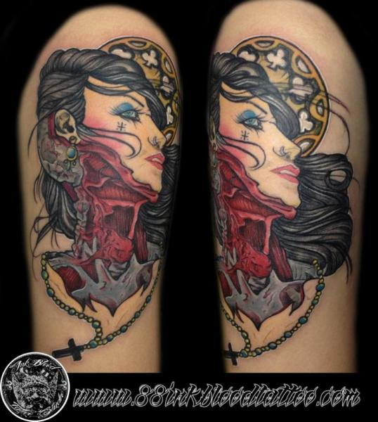 Shoulder Fantasy Women Tattoo by 88Ink-Blood Tattoo Studio