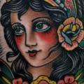 tatuaggio Braccio Old School Gypsy di Paul Anthony Dobleman