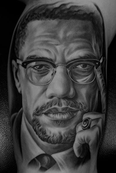 Arm Portrait Realistic Tattoo by Jun Cha