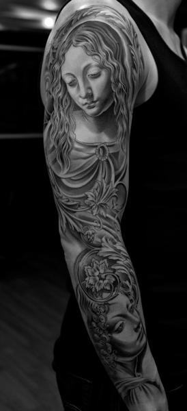 Tatuaggio Donne Manica di Jun Cha