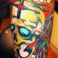 Arm Totenkopf Anker tattoo von Tattoo Studio 73
