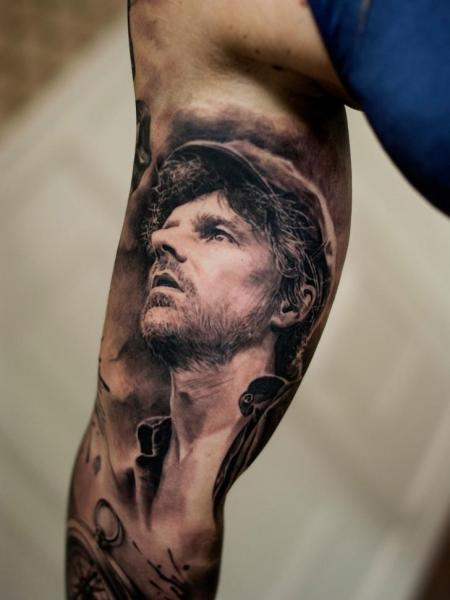 Arm Portrait Realistic Tattoo by Tattoo Studio 73