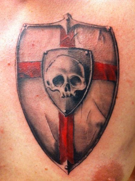 Skull Shield Tattoo by Tattoo Studio 73