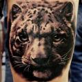 Realistic Tiger Thigh tattoo by Tattoo Studio 73