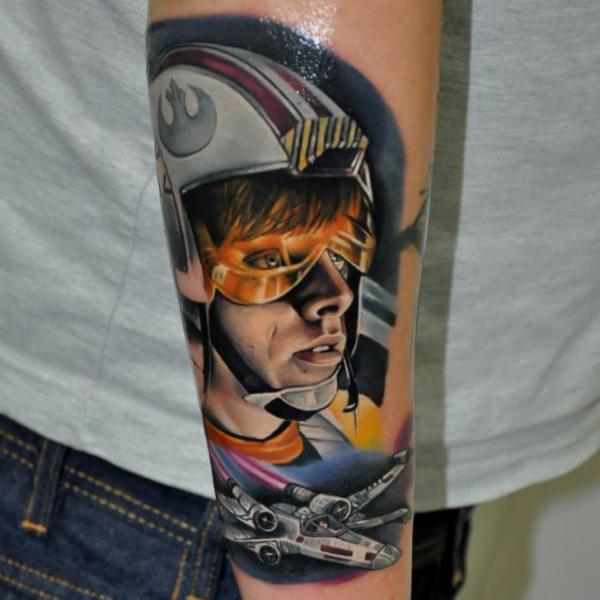 Arm Fantasy Star Wars Tattoo by Rock Tattoo