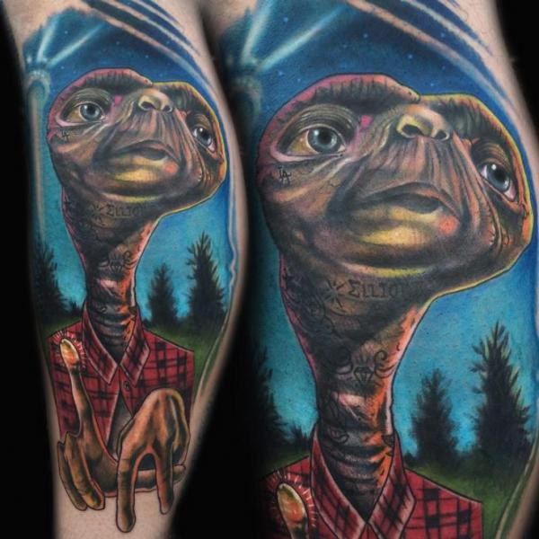 Arm Fantasy Movie Et Tattoo by Johnny Smith Art