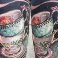 Arm Realistic Cup tattoo by Johnny Smith Art