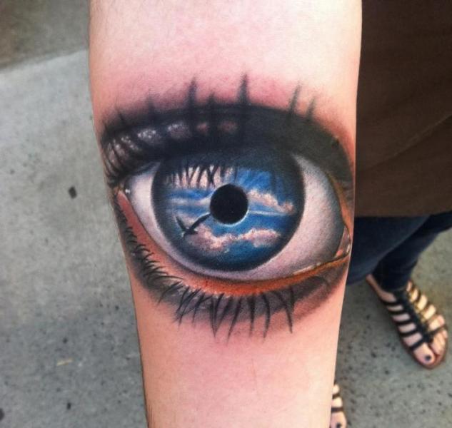 Tatuaggio Braccio Realistici Occhio di Johnny Smith Art