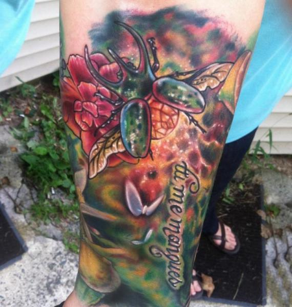 Arm Scrabble Tattoo by Johnny Smith Art