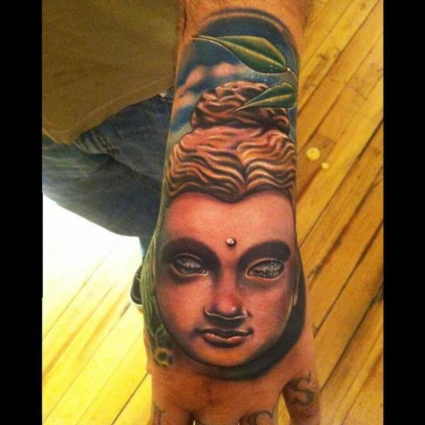 Tatuaggio Buddha Mano Religiosi di Johnny Smith Art