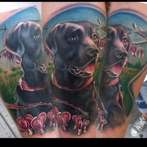 Realistic Dog Tattoo by Johnny Smith Art