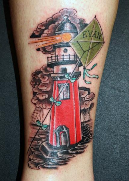 Arm Lighthouse Kite Tattoo by Kings Avenue