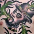 tatuaggio Petto Old School Corvo Cappello di Kings Avenue