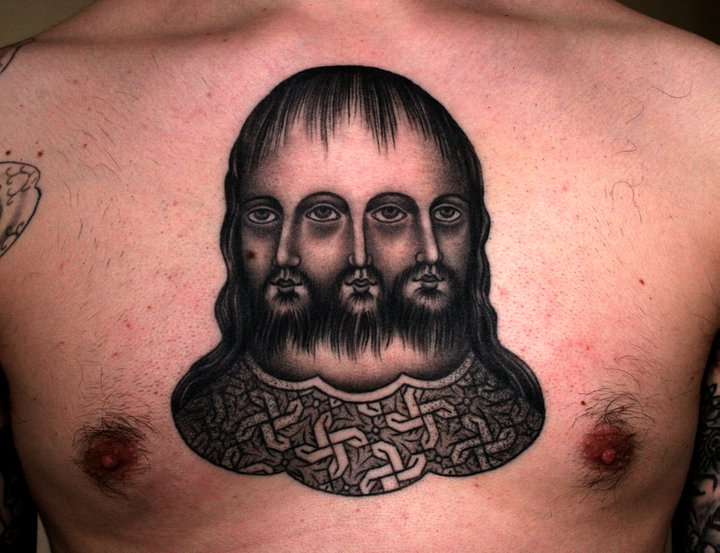 Chest Old School Men Tattoo by Kings Avenue
