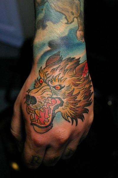 New School Hand Wolf Tattoo by Kings Avenue