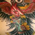 Chest Old School Eagle Neck tattoo by Kings Avenue