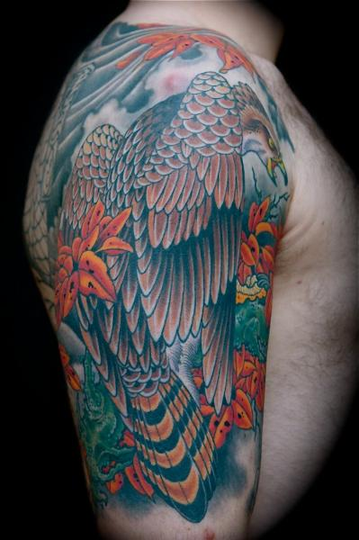 Shoulder Eagle Tattoo by Kings Avenue