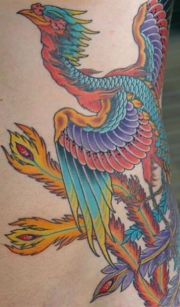 Side Japanese Phoenix Tattoo by Kings Avenue