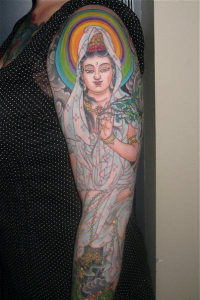 Religious Sleeve Tattoo by Kings Avenue