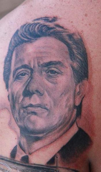 Portrait Realistic Back Tattoo by Secret Sidewalk