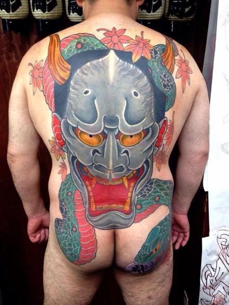 Tatuaggio Giapponesi Schiena Demoni Sedere di Chopstick Tattoo