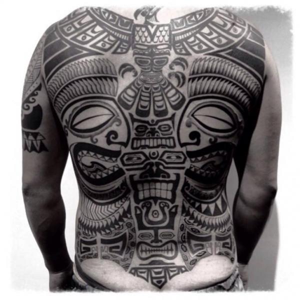 Back Tribal Maori Tattoo by Chopstick Tattoo