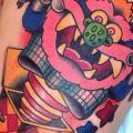 tatuaje Fantasy Personaje Muslo por Chopstick Tattoo