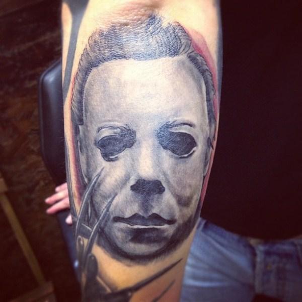 Arm Fantasie Masken Tattoo von Blancolo Tattoo