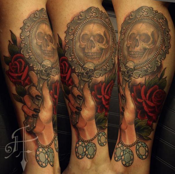 Arm Skull Hand Diamond Tattoo by Antony Tattoo