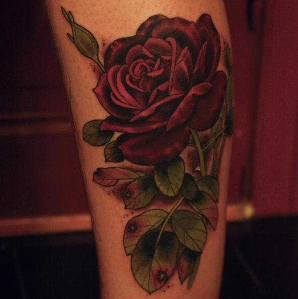 Arm Realistic Flower Rose Tattoo by Antony Tattoo