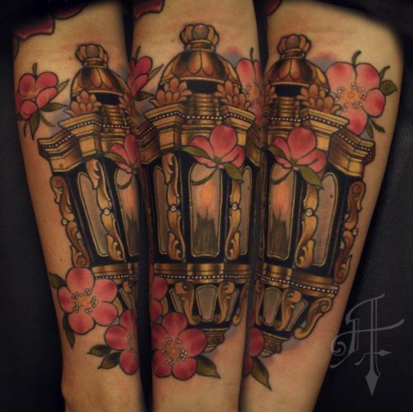 Arm Realistic Lamp Tattoo by Antony Tattoo
