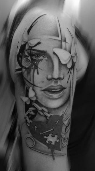 Shoulder Women Chain Tattoo by Westfall Tattoo