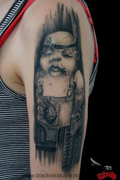 Arm Fantasy Monster Tattoo by Black Ink Studio