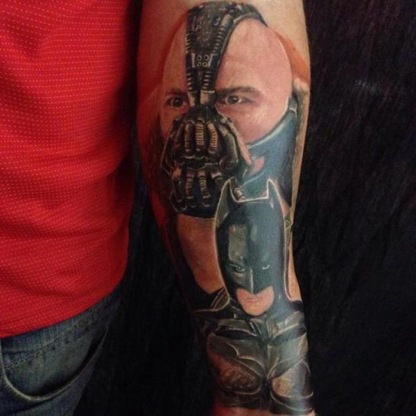 Arm Fantasy Batman Tattoo by Inky Joe