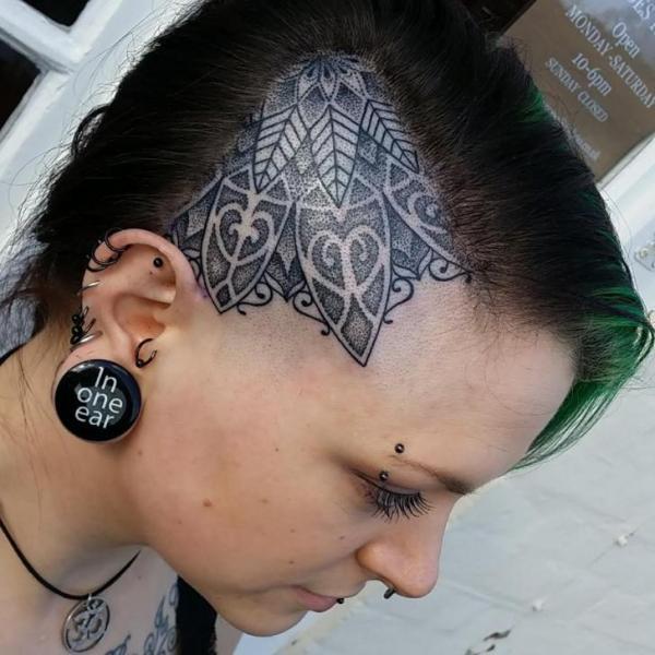Head Geometric Tattoo by Inky Joe