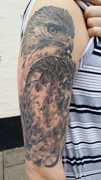 Shoulder Realistic Eagle Tattoo by Inky Joe